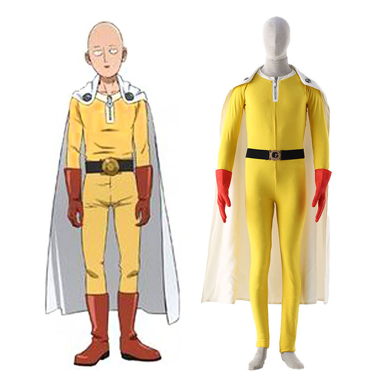 One Punch-man Saitama 1 Cosplay Kostym Sverige