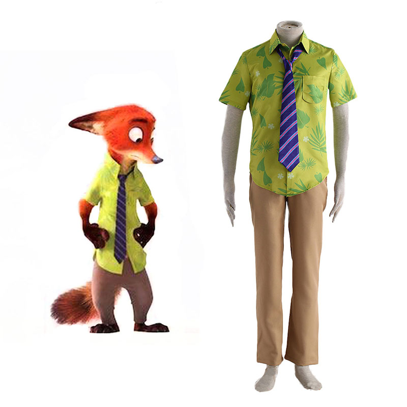 Zootopia Nick Normal Cosplay Kostym Sverige