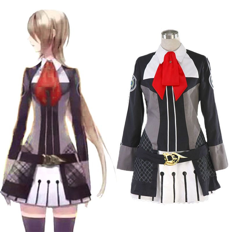 Starry Sky Kvinna Vinter School Uniform Cosplay Kostym Sverige