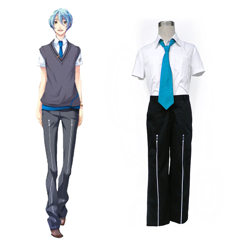 Starry Sky Male Sommar School Uniform 3 Cosplay Kostym Sverige