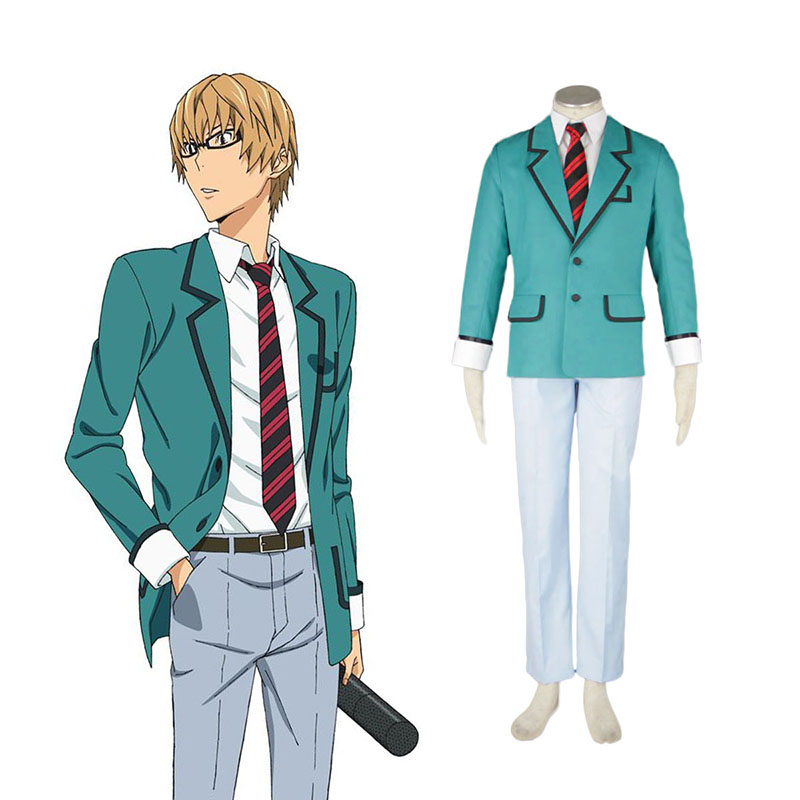 Bakuman Male School Uniform Cosplay Kostym Sverige