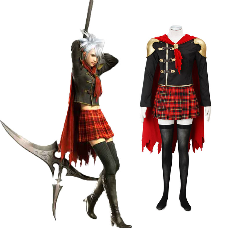 Final Fantasy Type-0 Sice 1 Cosplay Kostym Sverige