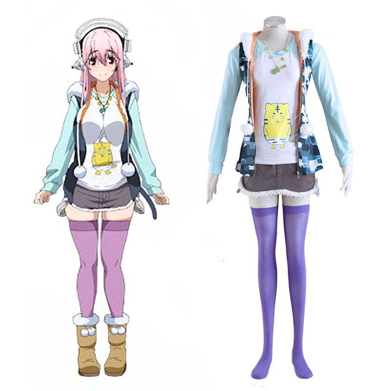 Soni-Ani:Super Sonico the Animation Super Sonico 1 Cosplay Kostym Sverige
