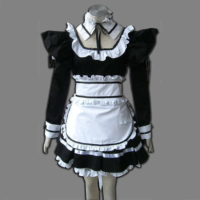 Svart Maid Uniform 1 Cosplay Kostym Sverige