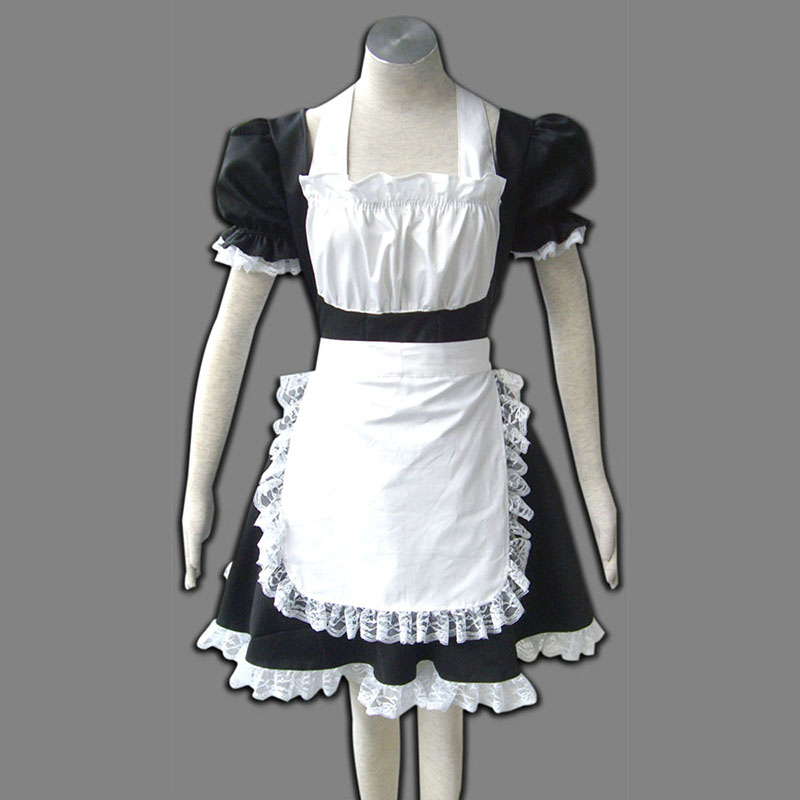 Maid Uniform 2 Svart Winged Angle Cosplay Kostym Sverige