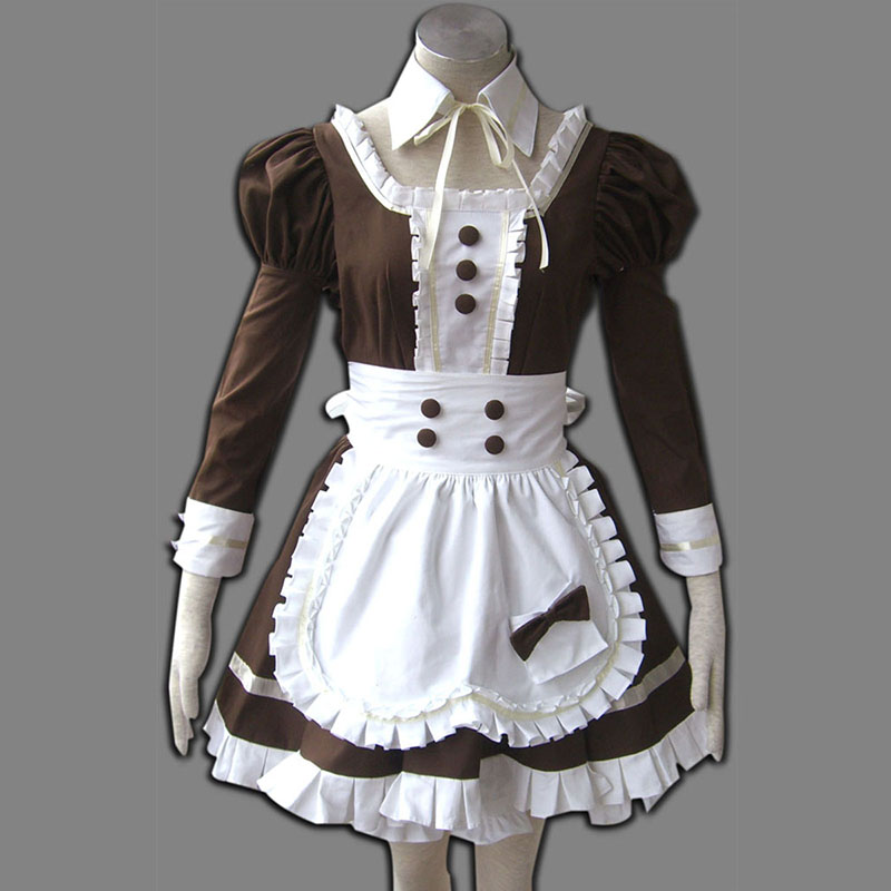 Maid Uniform 4 Coffee Whispery Cosplay Kostym Sverige