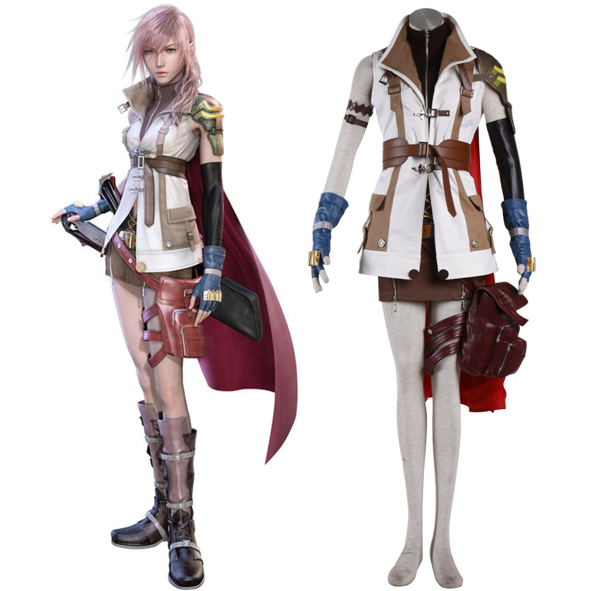 Final Fantasy XIII Lightning 1 Cosplay Kostym Sverige