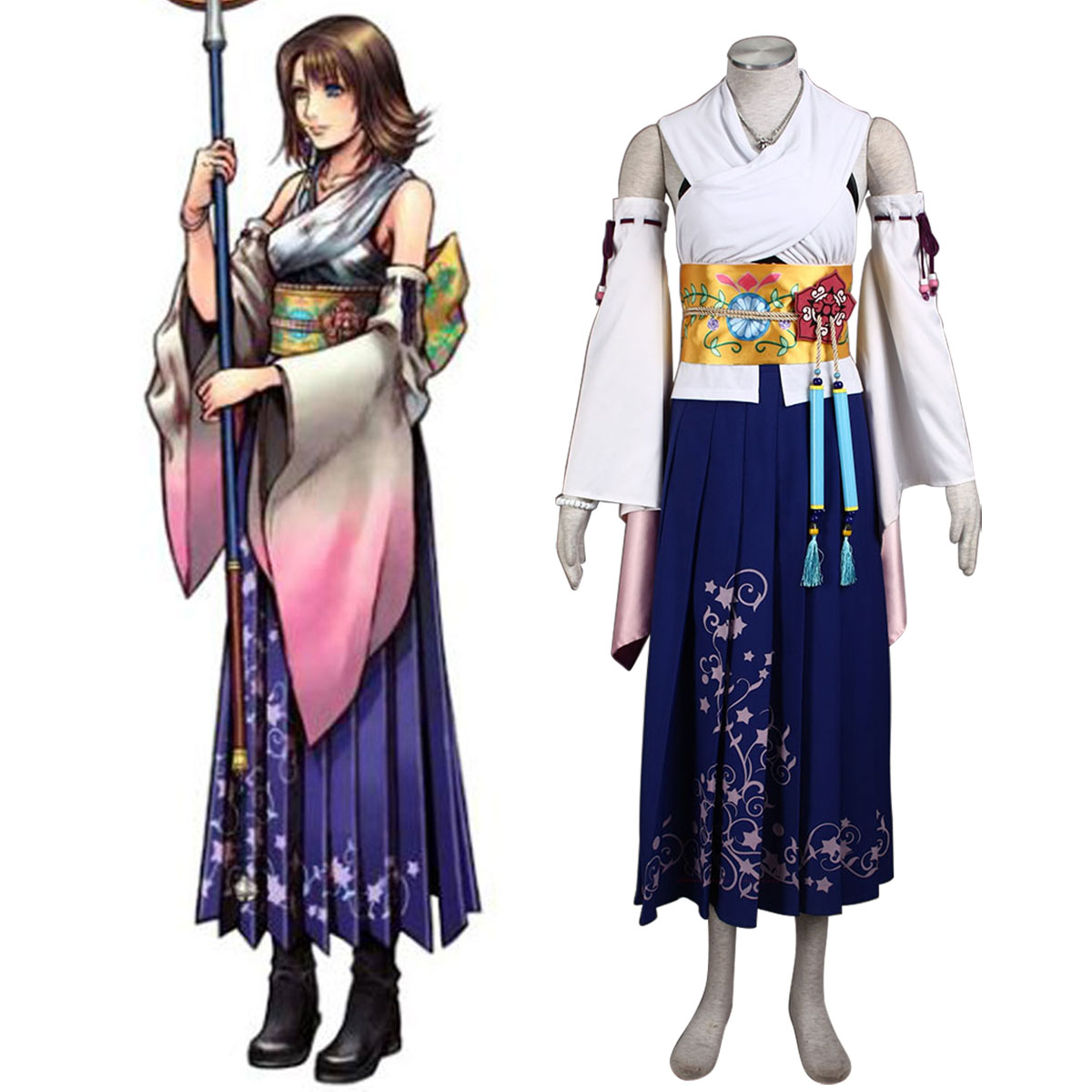Final Fantasy X Yuna 1 Cosplay Kostym Sverige