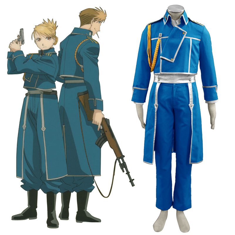 Fullmetal Alchemist Male Military Uniform Cosplay Kostym Sverige