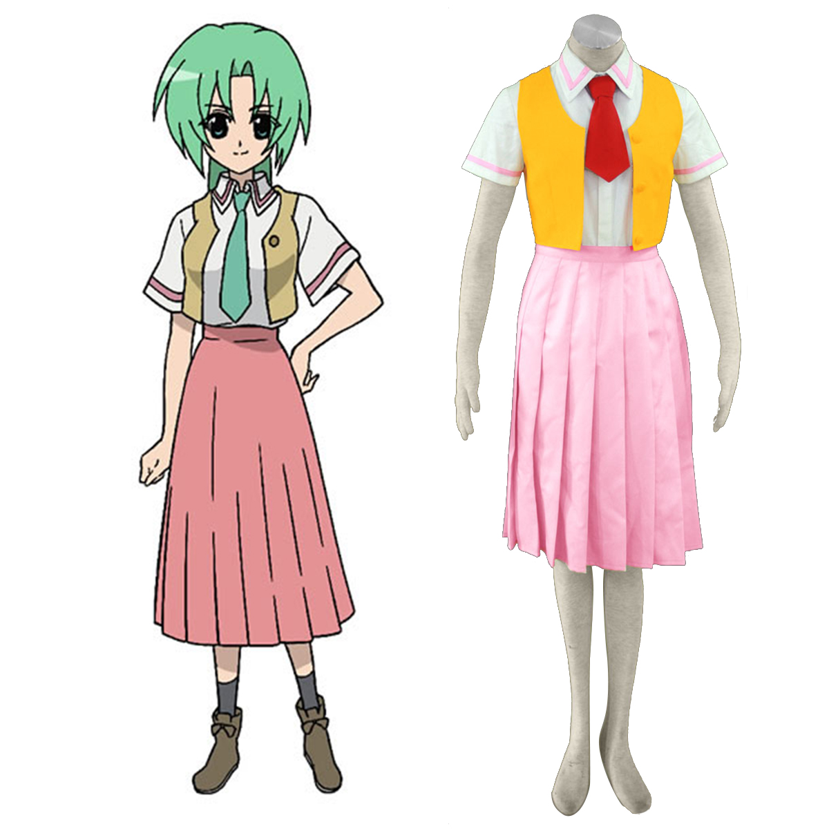 Higurashi When They Cry Sonozaki Mion 1 Cosplay Kostym Sverige