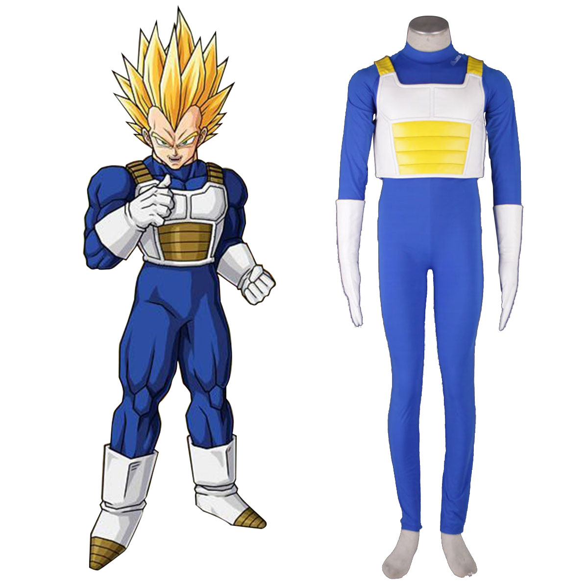 Dragon Ball Vegeta 3 Cosplay Kostym Sverige