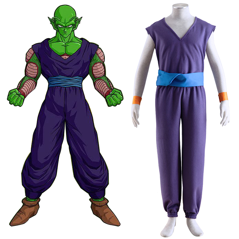 Dragon Ball Piccolo 1 Purple Cosplay Kostym Sverige