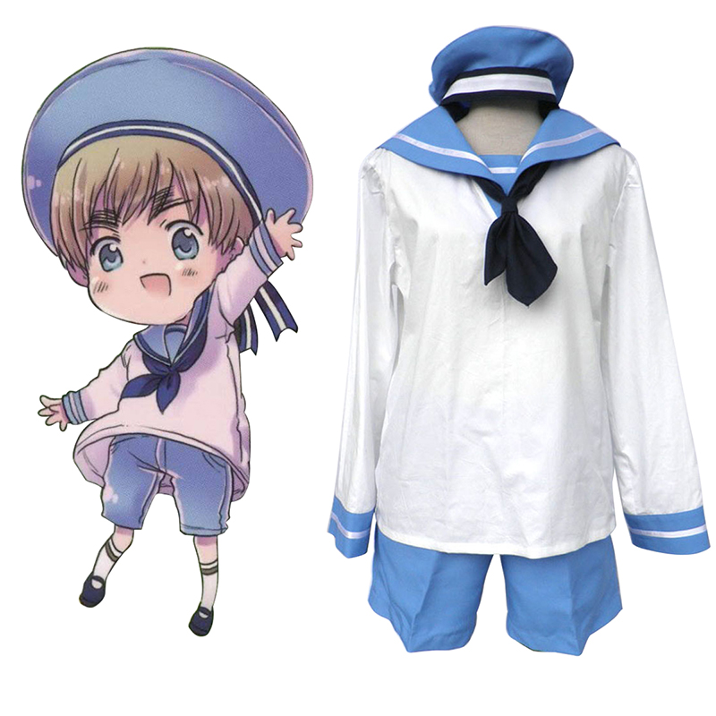 Axis Powers Hetalia North Italy Feliciano Vargas 2 Cosplay Kostym Sverige