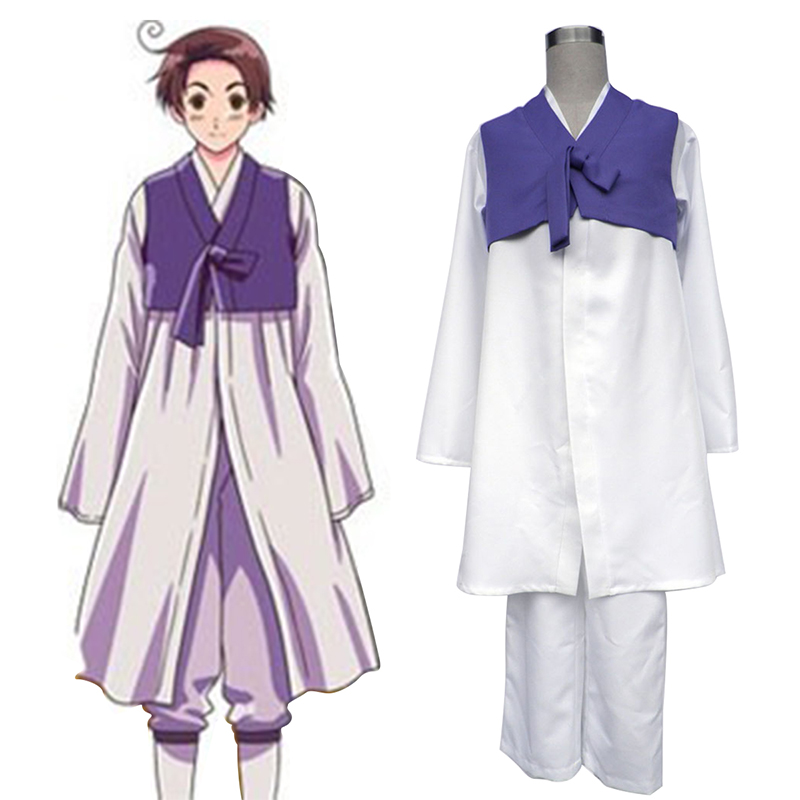Axis Powers Hetalia South Korea 1 Cosplay Kostym Sverige