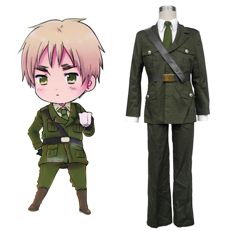 Axis Powers Hetalia Arthur Kirkland Britain 1 Cosplay Kostym Sverige