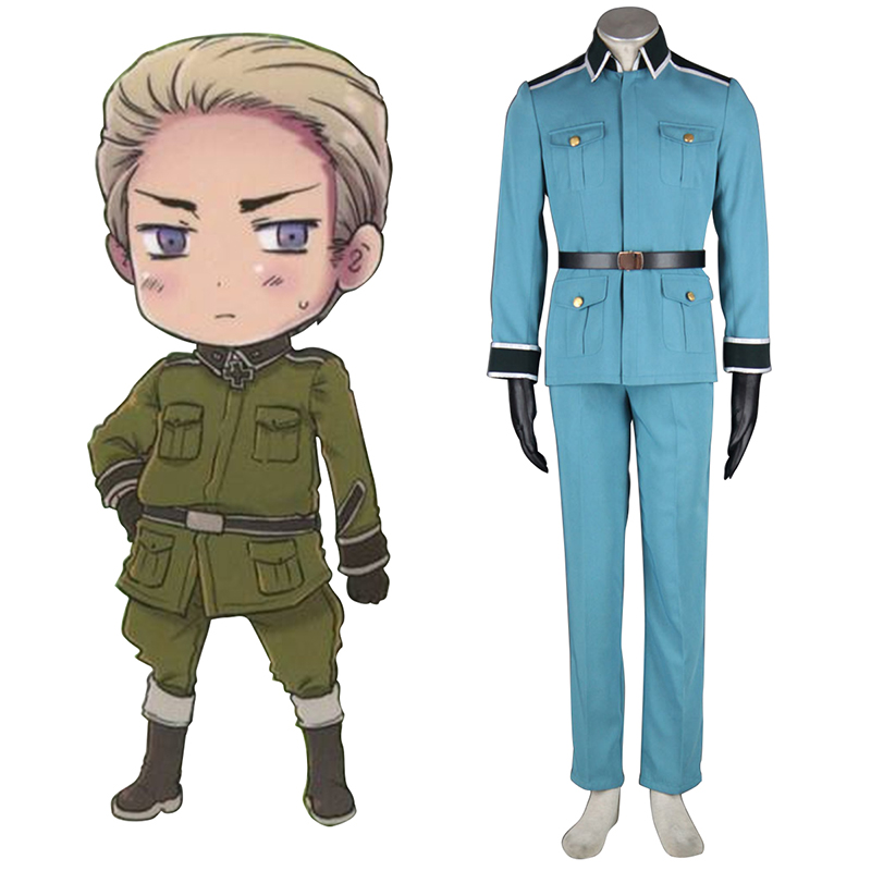 Axis Powers Hetalia Germany 1 Military Uniform Cosplay Kostym Sverige