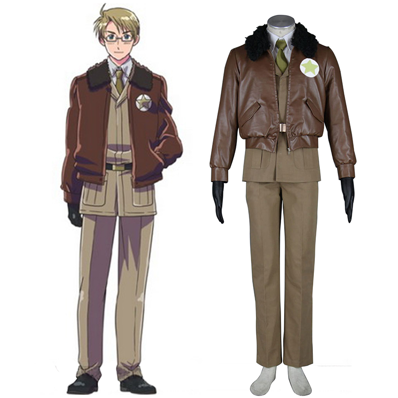 Axis Powers Hetalia APH America AlfRöd F Jones 1 Cosplay Kostym Sverige