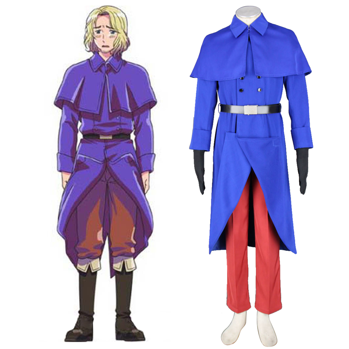 Axis Powers Hetalia France Francis Bonnefeuille 1 Cosplay Kostym Sverige