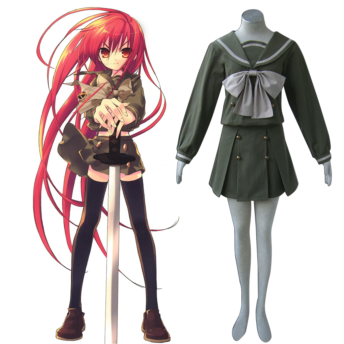 Shakugan no Shana Shana 2 Vinter Sailor Cosplay Kostym Sverige
