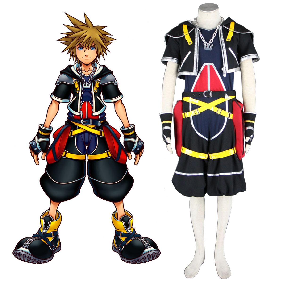 Kingdom Hearts Sora 1 Cosplay Kostym Sverige