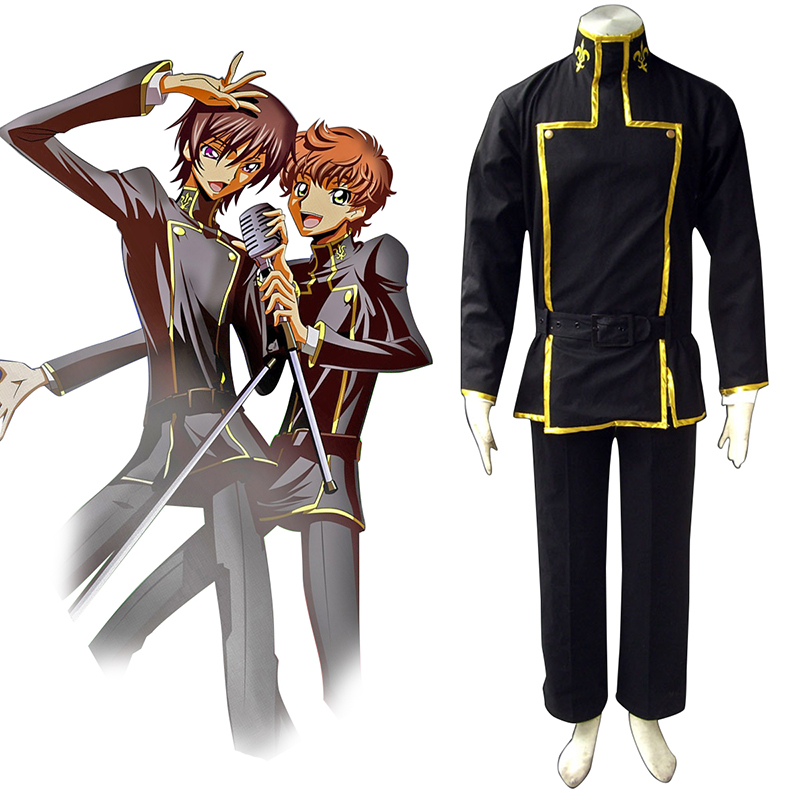 Code Geass Lelouch Lamperouge 1 Cosplay Kostym Sverige
