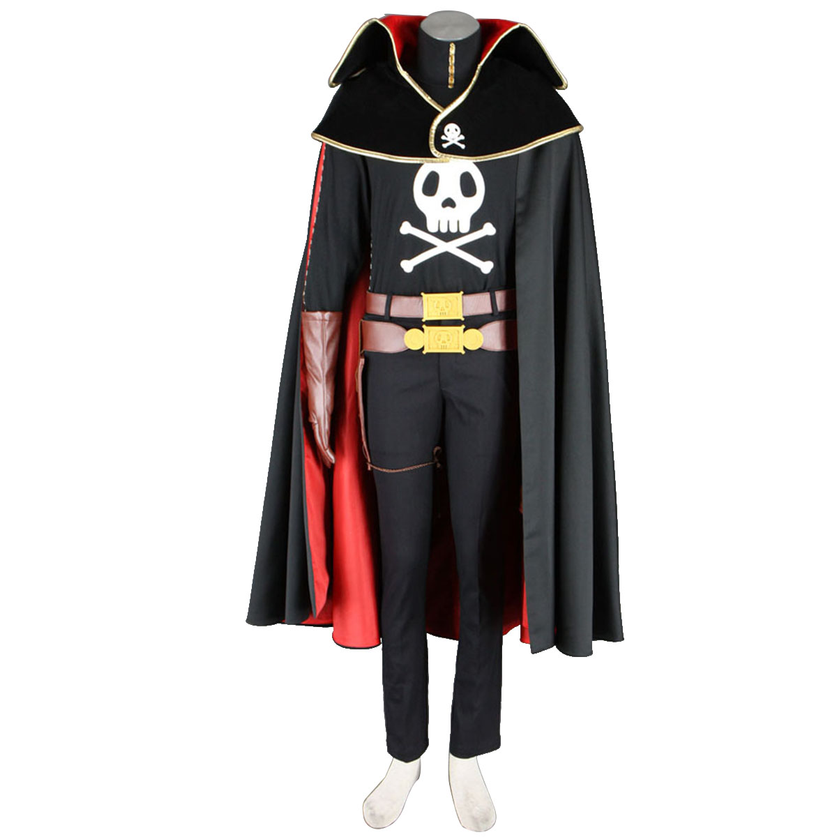 Galaxy Express 999 Captain Harlock Cosplay Kostym Sverige