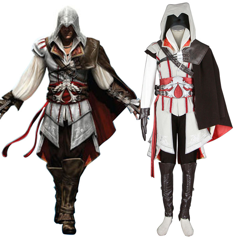 Assassins Creed II Assassin 2 Cosplay Kostym Sverige
