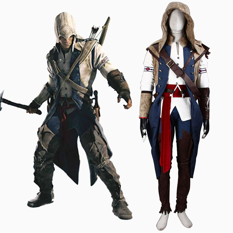 Assassin's Creed III Assassin 7 Cosplay Kostym Sverige