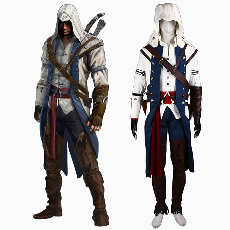 Assassin's Creed III Assassin 8 Cosplay Kostym Sverige