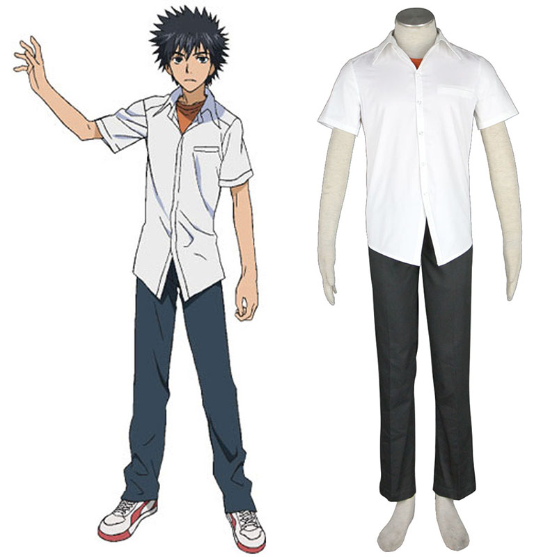 A Certain Magical Index Kamijou Touma 1 Cosplay Kostym Sverige