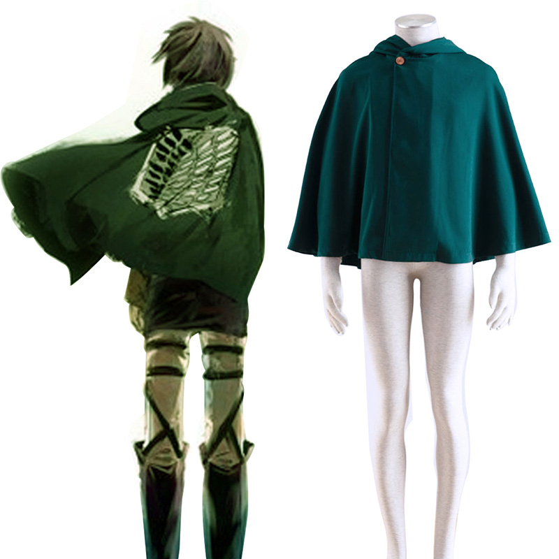 Attack on Titan Survey Corps Cloak 2 Cosplay Kostym Sverige