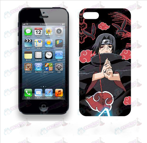 Apple iPhone5 telefon skal 006 (Naruto Red Cloud)