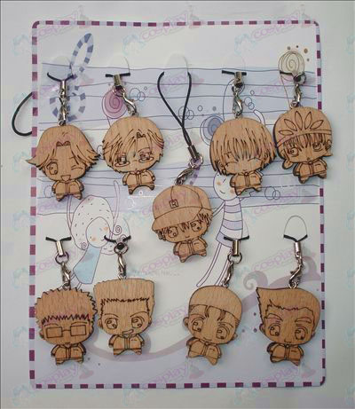 The Prince of Tennis Tillbehör Wood Carving Strap (9 / set)