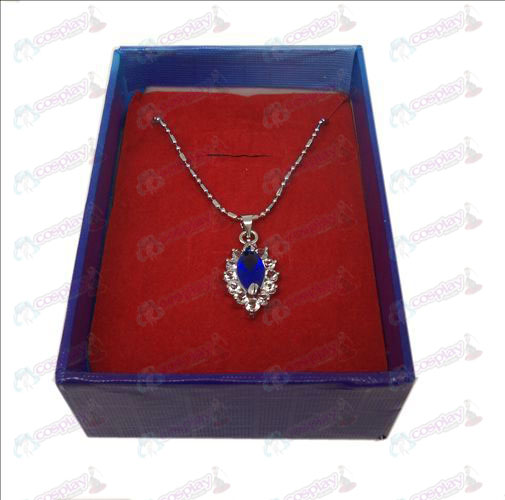D boxed Black Butler Tillbehör Diamond Necklace (Blå)