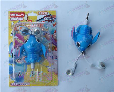 Lilo & Stitch Tillbehör Auto Retractable MP3 Earphone (a)