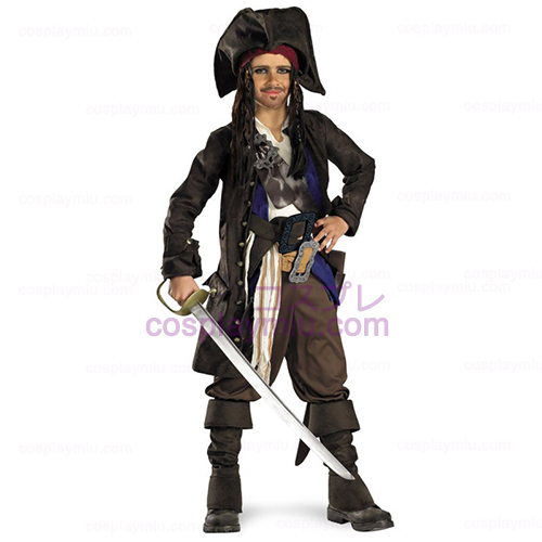 Pirates of the Caribbean - Kapten Jack Sparrow Prestige Barn Kostym