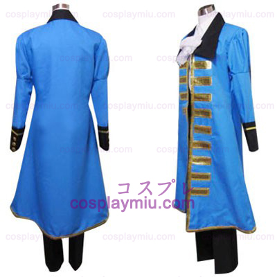 Hetalia Axis Powers Blue Frankrike Cosplay Kostym
