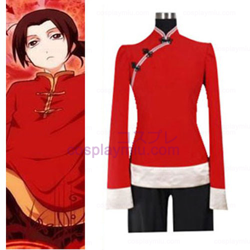 Hetalia Axis Powers Kina Cosplay Kostym