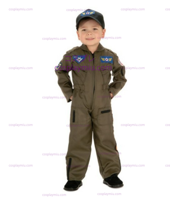 Kid Air Force Fighter Pilot Top Gun Halloween dräkt