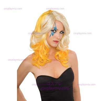 Lady Gaga blond och Yellow Peruker
