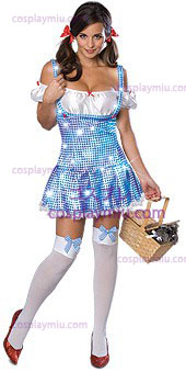 Secret Wishes Wizard Of Oz Sparkle Dorothy Vuxen Kostym