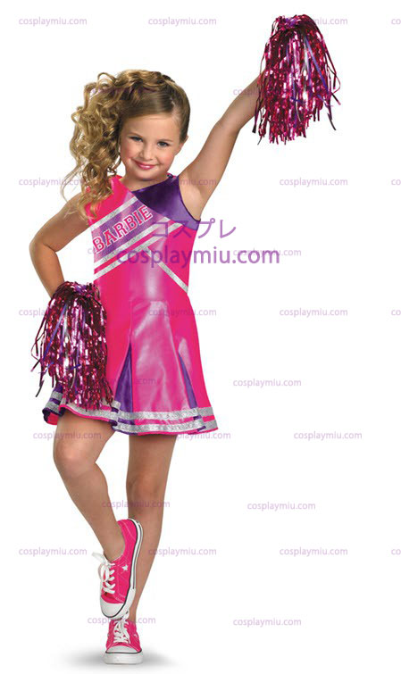 Barbie Cheerleader Barn Kostym