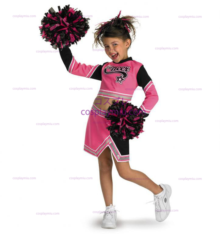 Go Team Pink! Cheerleader Barn Kostym