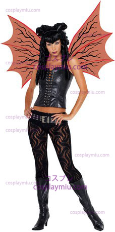 Demonette Wings W / Veins Red
