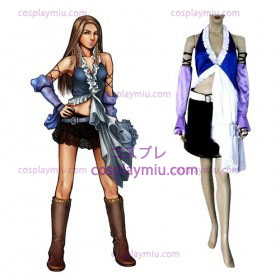 Final Fantasy XII Yuna Lenne Song Kvinnor Cosplay Kostym