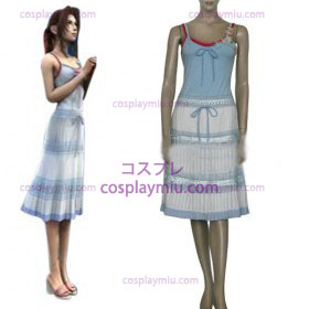 Final Fantasy VII Aerith Gainsborough Kvinnor Cosplay Kostym