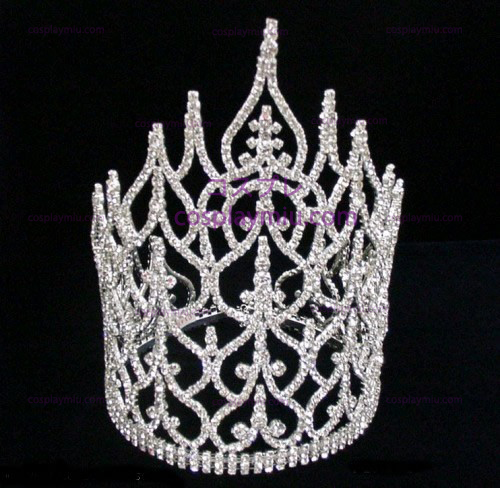 Rhinestone Crown Silver-Tone-CT014