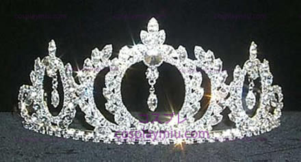 Rhinestone Crown Silver-Tone-CT020