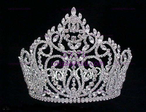 Rhinestone Crown Silver-CT008