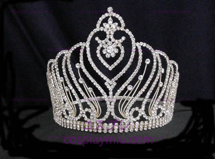 Rhinestone Crown Silver-CT006